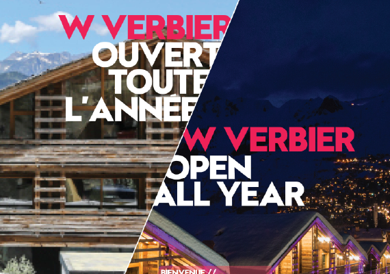 Designed posters brochures and maps for the W Hotel in Verbier