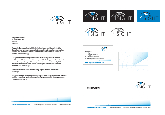 4Sight is an integrator, and operator of protective technology. My work includes a style guide and stationary design.