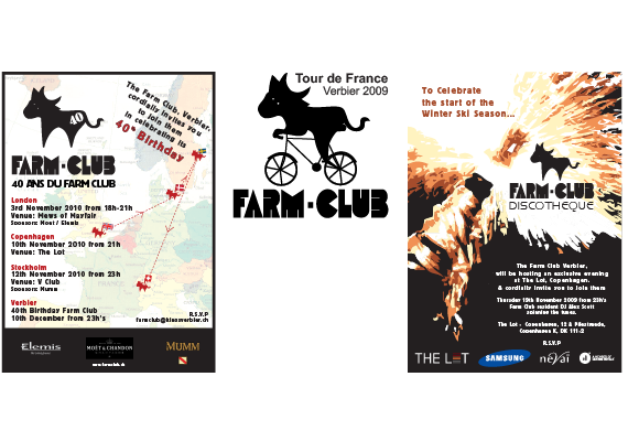 My work includes posters, Tour de France logo and invitations.